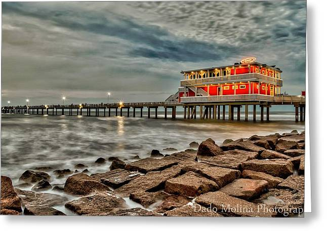 Galveston Photographs Greeting Cards - Tranquile Greeting Card by Dado Molina