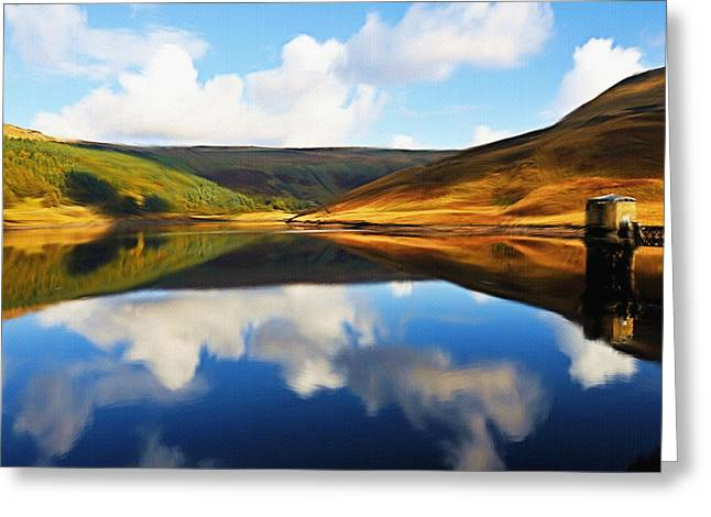 Mountain Valley Greeting Cards - Tranquility Greeting Card by Ayse Deniz