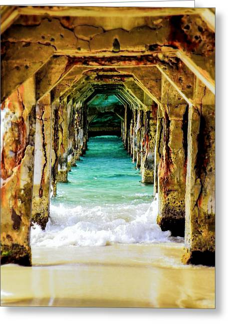 Tropical Beach Greeting Cards - Tranquility Below Greeting Card by Karen Wiles