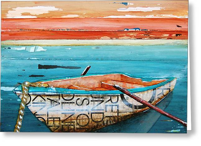 Vintage Boat Greeting Cards - Tranquility Greeting Card by Danny Phillips