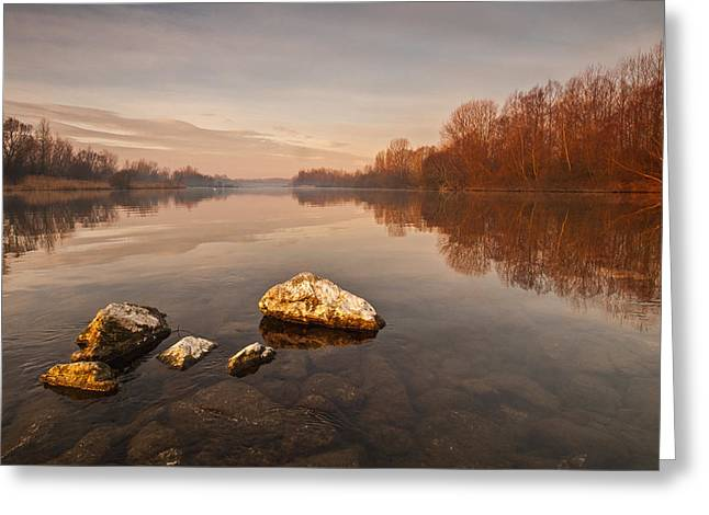 Tranquility Greeting Card by Davorin Mance