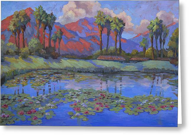 Desert Lake Greeting Cards - Tranquility Greeting Card by Diane McClary
