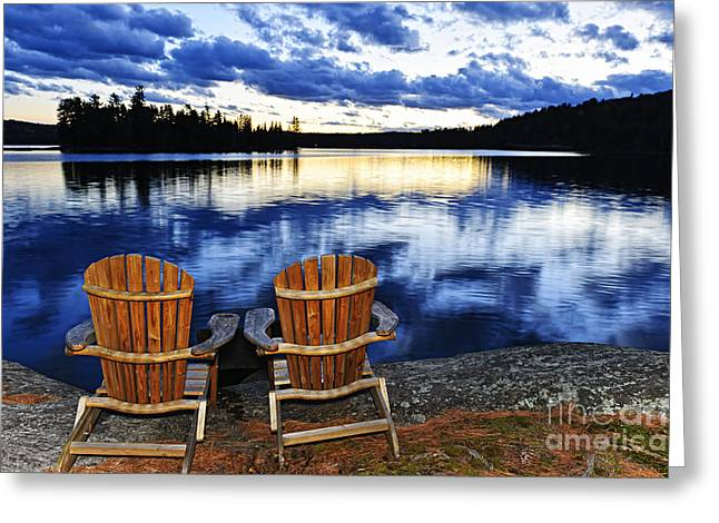 Adirondack Park Greeting Cards - Tranquility Greeting Card by Elena Elisseeva