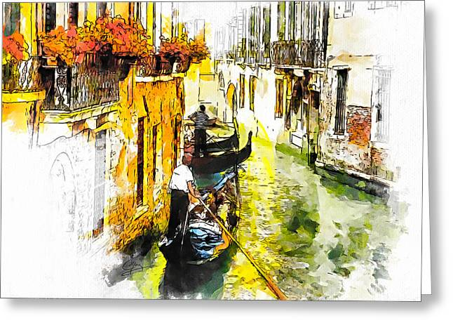 Italian Greeting Cards - Tranquillity Greeting Card by Greg Collins