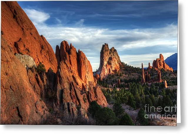 Canadian Photographer Greeting Cards - Tranquility In The Garden Of The Gods Greeting Card by Bob Christopher