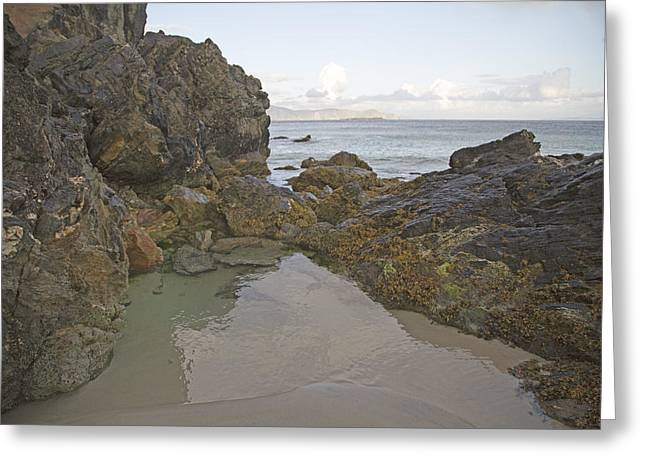 Green Day Greeting Cards - Tranquility Keem Beach Ireland Greeting Card by Betsy A  Cutler