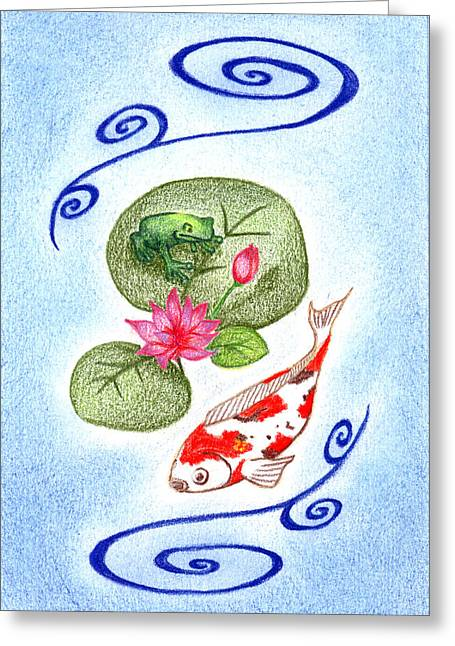 Keiko Katsuta Greeting Cards - Tranquility Greeting Card by Keiko Katsuta