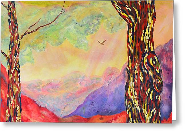 Natuur Greeting Cards - Tranquility Greeting Card by Lida Bruinen