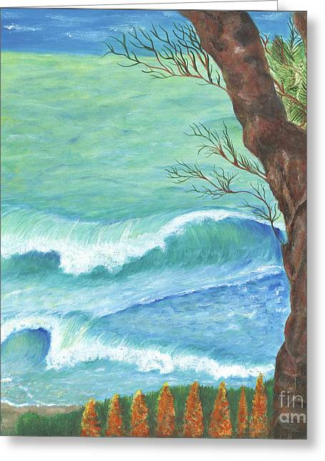 Outlook Greeting Cards - Tranquility Greeting Card by Robin Grace