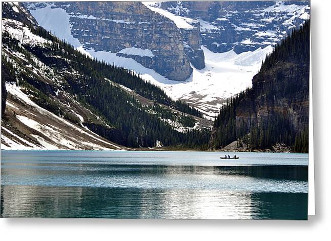 Canoe Photographs Greeting Cards - Tranquility Greeting Card by Sandy Molinaro