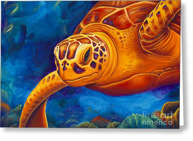 Marine Life Greeting Cards - Tranquility Greeting Card by Scott Spillman