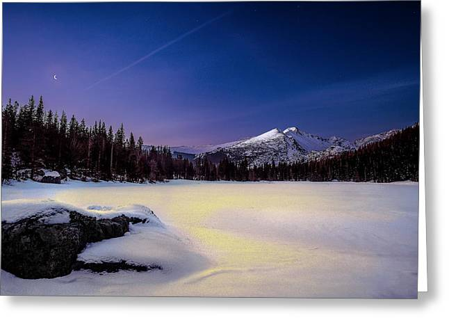 Snowy Night Greeting Cards - Tranquility Greeting Card by Steven Reed