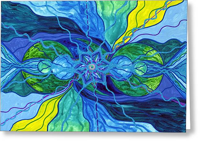 Spiritual Art Greeting Cards - Tranquility Greeting Card by Teal Eye  Print Store
