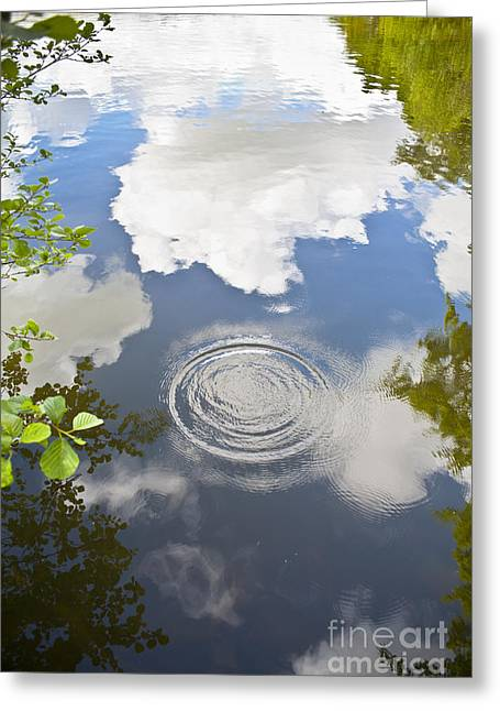 Abstract Rain Greeting Cards - Tranquillity Greeting Card by Jan Bickerton