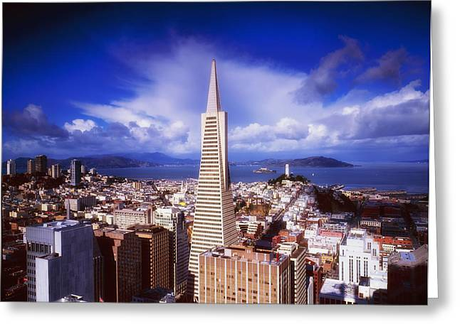 Downtown San Francisco Greeting Cards - Transamerica Tower San Francisco Greeting Card by Mountain Dreams