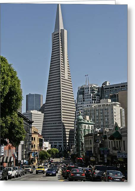 Bookstore Greeting Cards - Transamerica Tower Greeting Card by Steven Lapkin