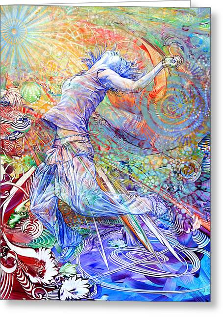 Recently Sold -  - Dancing Girl Greeting Cards - Transcendent Greeting Card by Susan Card
