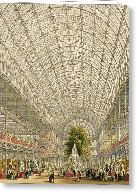Transept Of The Crystal Palace Greeting Card by George Hawkins