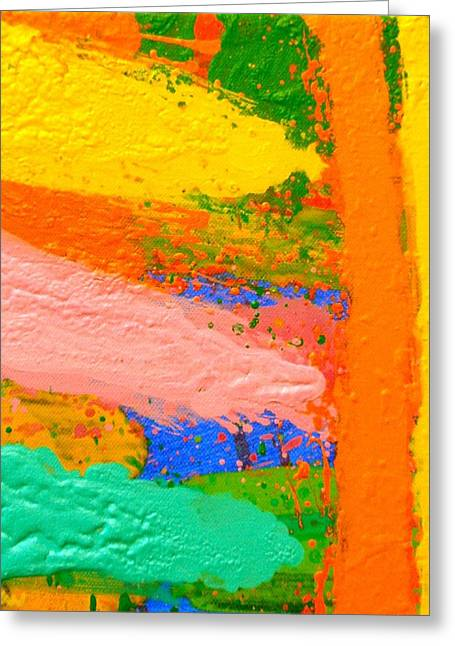 Abstract Expressionistic Greeting Cards - Transfixed Greeting Card by John  Nolan