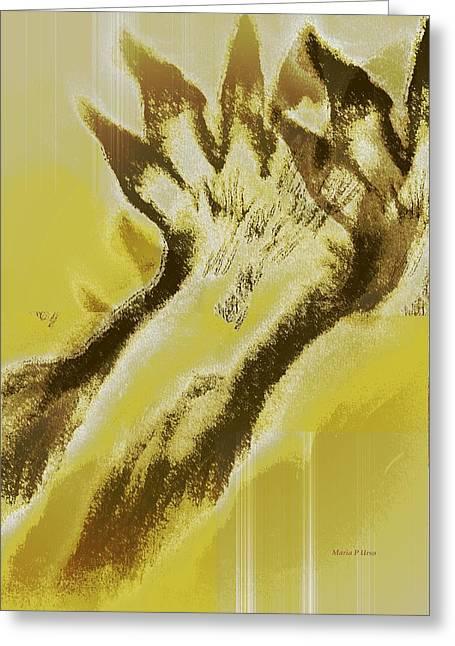 Bad Drawing Digital Art Greeting Cards - Transformation Greeting Card by Maria Urso