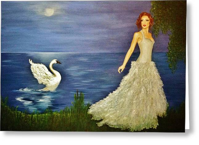 Swans... Greeting Cards - Transformation Greeting Card by Marina Hanson