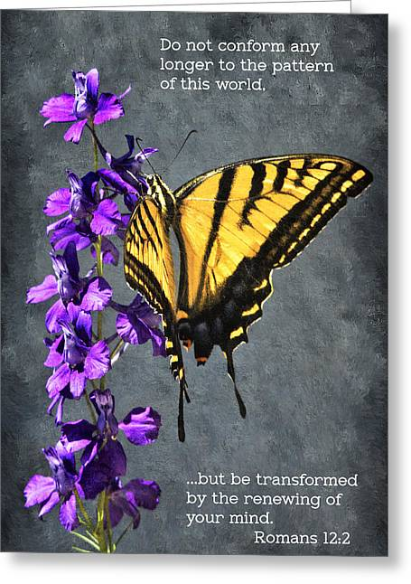 Transformation Greeting Card by Priscilla Burgers