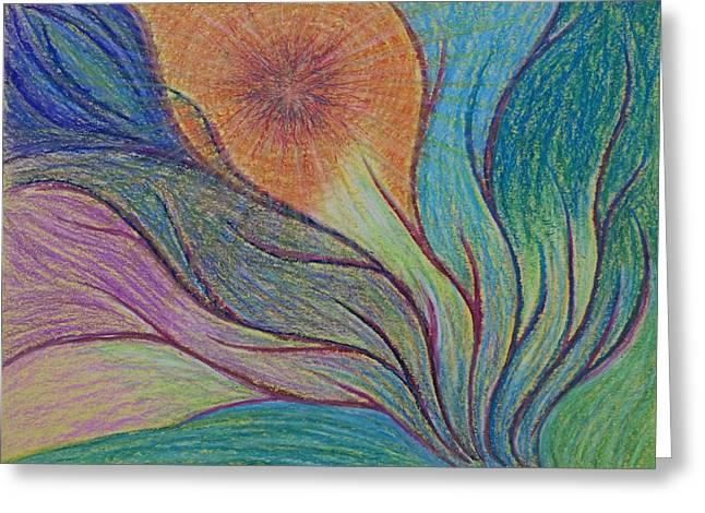 Transformations Pastels Greeting Cards - Transformational Opening Greeting Card by Jamie Rogers