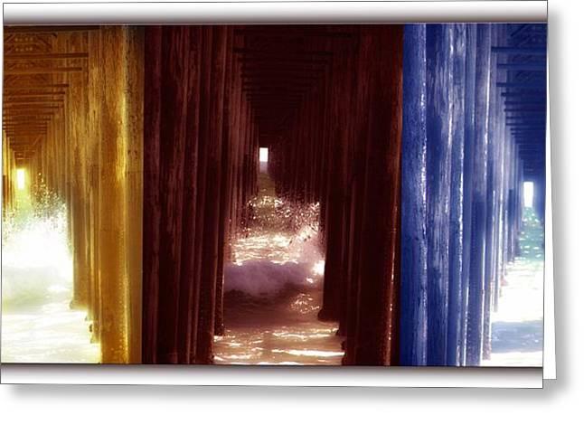 Jennifer Page Greeting Cards - Transforming Waters  Orginal piece Greeting Card by Jennifer Page