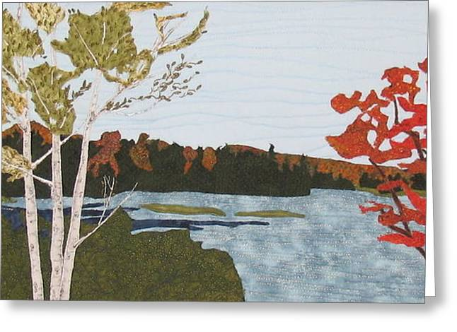 Landscape. Scenic Tapestries - Textiles Greeting Cards - Transitional Peace Greeting Card by Anita Jacques
