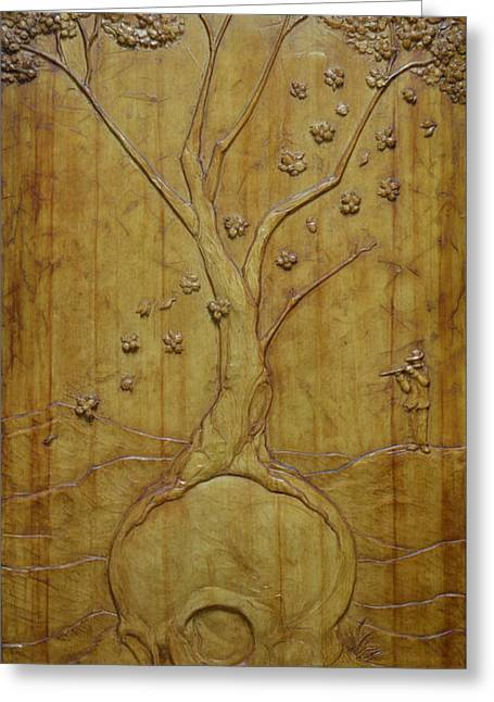 Blossoming Reliefs Greeting Cards - Transitions 1 - Winter / Spring Greeting Card by Jeremiah Welsh