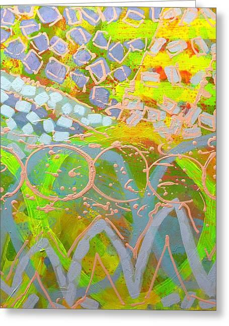 Joyce Greeting Cards - Translucent Abstract Greeting Card by John  Nolan