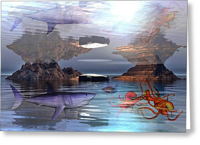 Aquatic Greeting Cards - Translucent Interactions Greeting Card by Betsy A  Cutler