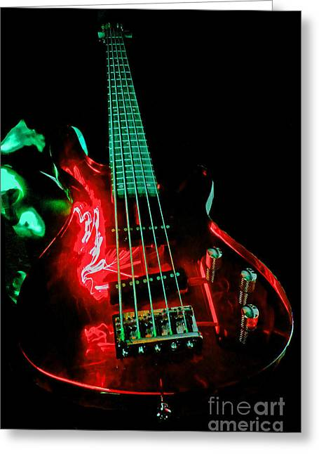Fret Greeting Cards - Transparent Bass Greeting Card by Rob Hawkins