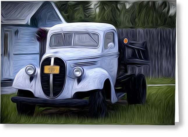 Truck Grill. Fence Greeting Cards - Ready to Go Greeting Card by David Kehrli