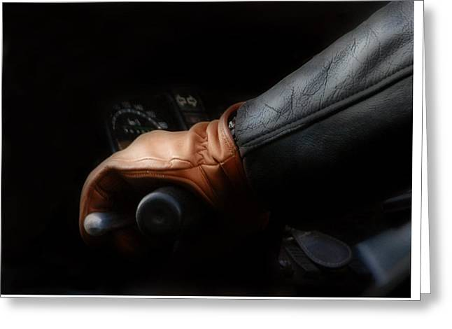 Glove Greeting Cards - Leather Gloves and Jacket Ride in Parisian Style Greeting Card by Ginger Wakem