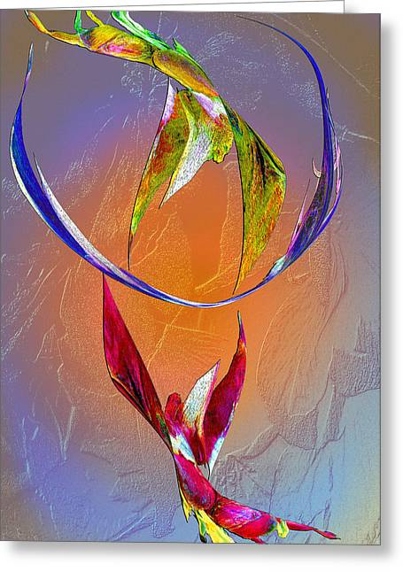Visionary Artist Greeting Cards - Trapeze Angels Greeting Card by Michele  Avanti