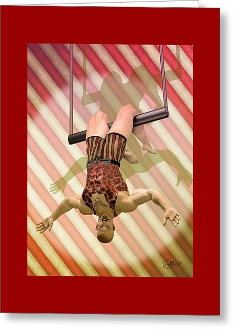 Classic Tattoo Greeting Cards - Trapeze artist  Greeting Card by Joaquin Abella