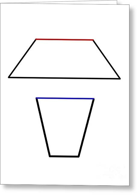 Geometrical Art Greeting Cards - Trapezoid Optical Illusion Greeting Card by Spencer Sutton