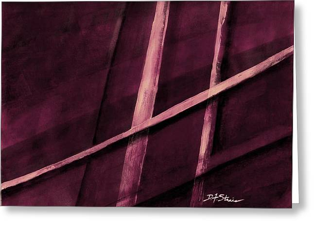 Vertical Red Abstract Art On Canvas Greeting Cards - Trapped    Number 19 Greeting Card by Diane Strain