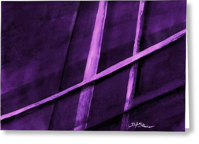 Vertical Red Abstract Art On Canvas Greeting Cards - Trapped    Number 6 Greeting Card by Diane Strain