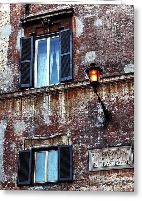 Trastevere Greeting Cards - Trastevere Greeting Card by John Rizzuto