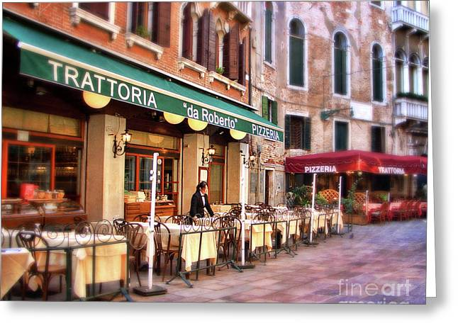 Trattoria Greeting Cards - Trattoria Greeting Card by Sylvia Cook
