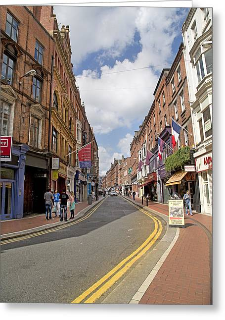 Double Yellow Lines Greeting Cards - Travel Dublin Ireland Greeting Card by Betsy C  Knapp