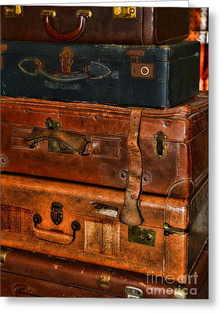 Luggages Greeting Cards - Travel - Old Bags Greeting Card by Paul Ward