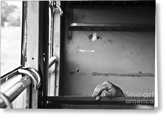 White Photographs Greeting Cards - Travel on train Greeting Card by Lucas Guardincerri