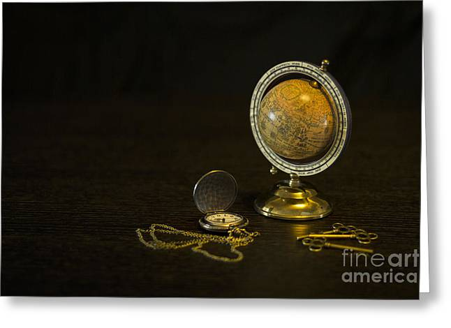 Golden Chain Greeting Cards - Travel Through Time Greeting Card by Evelina Kremsdorf