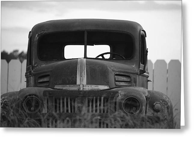 Truck Grill. Fence Greeting Cards - Traveled Many Miles Greeting Card by Vonda Barnett