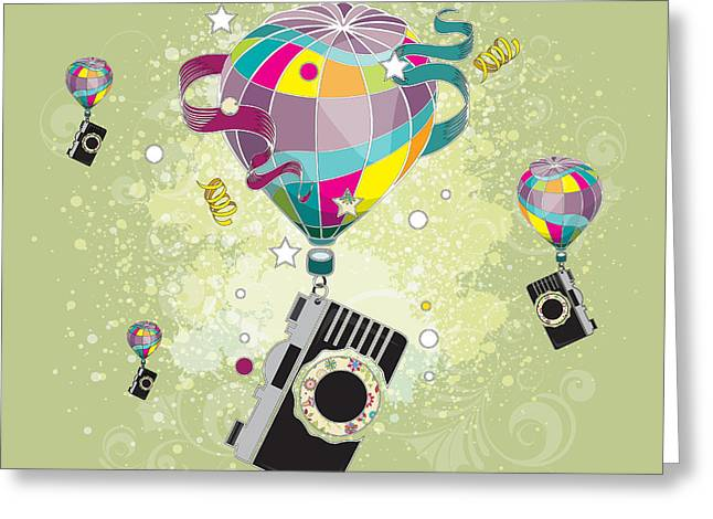 Traveling Camera  Greeting Card by Disko Galerie