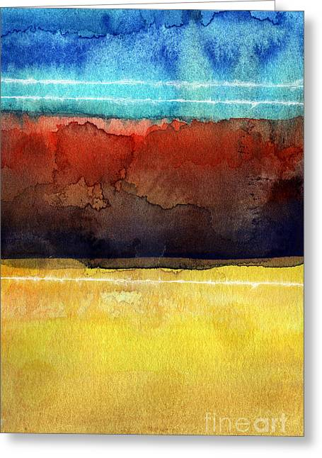 Nature Abstracts Greeting Cards - Traveling North Greeting Card by Linda Woods