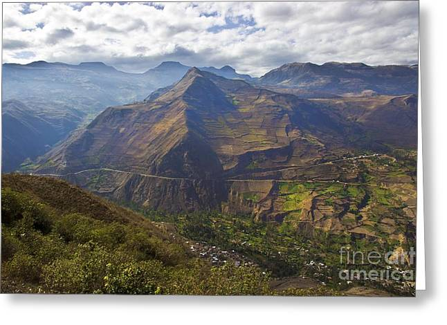 Road Travel Greeting Cards - Traveling to Banos Ambato Ecuador Greeting Card by Al Bourassa